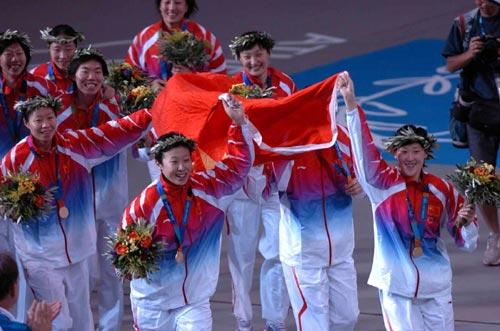 中国女排/我们的国旗////五星红旗迎风飘扬