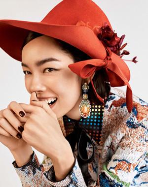 孙菲菲登美版12月Vogue