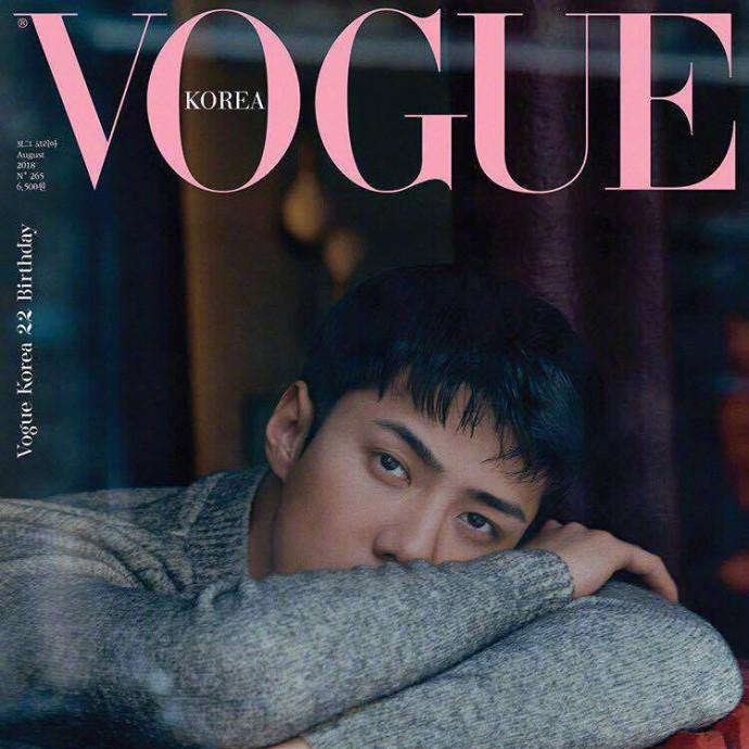 吴世勋登韩国版《Vogue》纪念刊