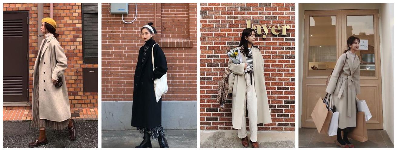 大衣+小高领=温暖时髦的打开方式